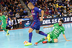 League LNFS 2017/2018 - Game 10.<br /> FC Barcelona Lassa vs CA Osasuna Magna: 3-3.<br /> Ferrao vs Roberto Martil.
