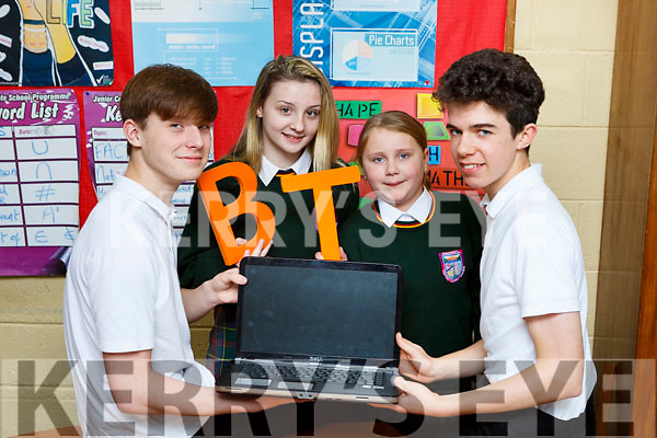 Killorglin CC students l-r: Cian Lynch, Chloe Nagle, Lily Eyers and Timothy McGrath whose projects have been chosen as finalists in the BT Young Scientist of the Year