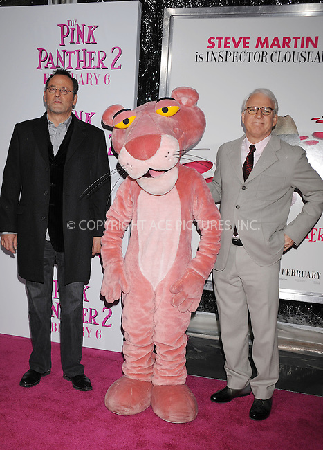 WWW.ACEPIXS.COM . . . . . ....February 3 2009, New York City....Actors Steve Martin and Jean Reno arriving at the premiere of 'The Pink Panther 2' at the Ziegfeld Theatre on February 3, 2009 in New York City.....Please byline: KRISTIN CALLAHAN - ACEPIXS.COM.. . . . . . ..Ace Pictures, Inc:  ..tel: (212) 243 8787 or (646) 769 0430..e-mail: info@acepixs.com..web: http://www.acepixs.com