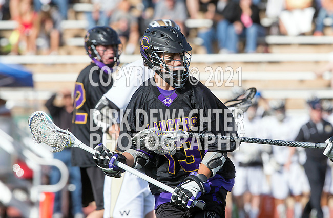 San Diego, CA 05/25/13 - Jack Beetham (Carlsbad #13) in action during the 2013 Boys Lacrosse San Diego CIF DIvision 1 Championship game.  Westview defeated Carlsbad 8-3.