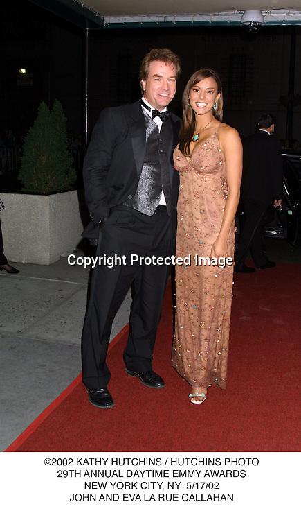 ©2002 KATHY HUTCHINS / HUTCHINS PHOTO.29TH ANNUAL DAYTIME EMMY AWARDS.NEW YORK CITY, NY  5/17/02.JOHN AND EVA LA RUE CALLAHAN