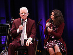 Steve Martin and Edie Brickell  on stage during 'Bright Star' In Concert at Town Hall on December 12, 2016 in New York City.