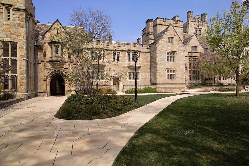 Yale University Campus, The Branford College Quad in April