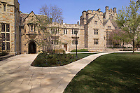 Yale University Campus, The Branford College Quad in April