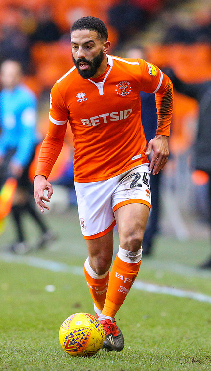 Blackpool's Liam Feeney<br /> <br /> Photographer Alex Dodd/CameraSport<br /> <br /> The EFL Sky Bet League One - Blackpool v Shrewsbury Town - Saturday 19 January 2019 - Bloomfield Road - Blackpool<br /> <br /> World Copyright © 2019 CameraSport. All rights reserved. 43 Linden Ave. Countesthorpe. Leicester. England. LE8 5PG - Tel: +44 (0) 116 277 4147 - admin@camerasport.com - www.camerasport.com