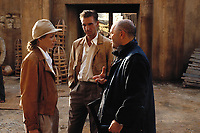 The English Patient (1996) <br /> Behind the scenes photo of Kristin Scott Thomas, Ralph Fiennes &amp; Anthony Minghella<br /> *Filmstill - Editorial Use Only*<br /> CAP/MFS<br /> Image supplied by Capital Pictures