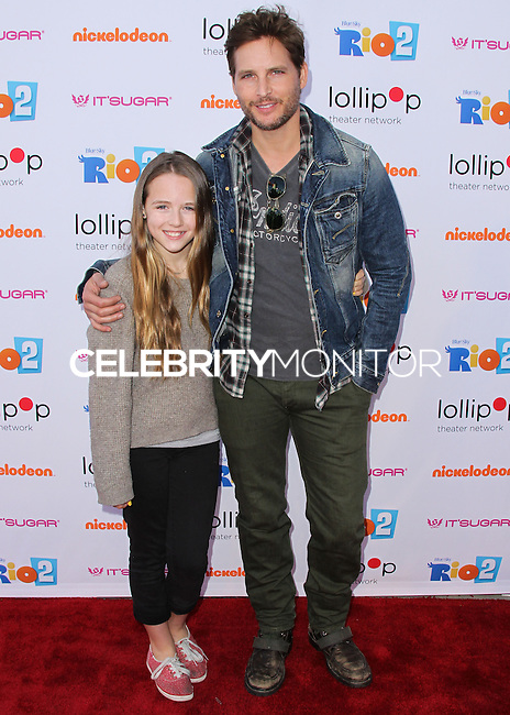 """BURBANK, CA, USA - APRIL 26: Lola Ray Facinelli, Peter Facinelli at the Lollipop Theater Network's Night Under The Stars Screening Of Twentieth Century Fox's """"Rio 2"""" Hosted by Anne Hathaway held at Nickelodeon Animation Studios on April 26, 2014 in Burbank, California, United States. (Photo by Xavier Collin/Celebrity Monitor)"""