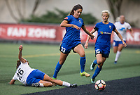 Seattle, WA - Saturday July 15, 2017: Angela Salem, Katlyn Johnson, Megan Rapinoe during a regular season National Women's Soccer League (NWSL) match between the Seattle Reign FC and the Boston Breakers at Memorial Stadium.