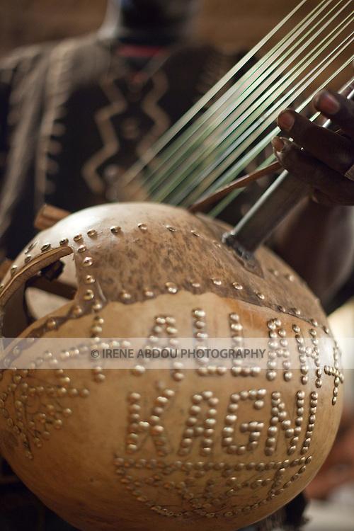 Traditional Malian music instrument called the kora.