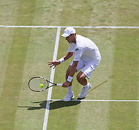 BLAZ ROLA (SLO)<br /> <br /> The Championships Wimbledon 2014 - The All England Lawn Tennis Club -  London - UK -  ATP - ITF - WTA-2014  - Grand Slam - Great Britain -  25th June 2014. <br /> <br /> &copy; AMN IMAGES