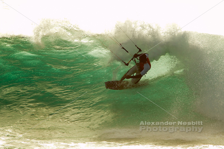 Punta Preta (Black Point) on the island of Sal. Cape Verde - Perfect wave riding for Kiteboarding in the side-off, clean wave conditions of Punta Preta.