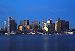 Skyline at Dawn, Boston, MA, USA