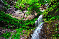 The bowl of Cathedral Falls in West Virginia, New River Gorge area