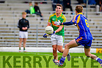 Conor O'Shea South Kerry in Action against Dara O'Shea Kenmare in the County Senior Football Semi Final at Fitzgerald Stadium Killarney on Sunday.