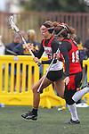 Santa Barbara, CA 02/19/11 - Jessie Lowy (Chaparral #18) and Tess Dennis (Memorial #16) in action during the Memorial - Chaparral game at the 2011 Santa Barbara Shootout.