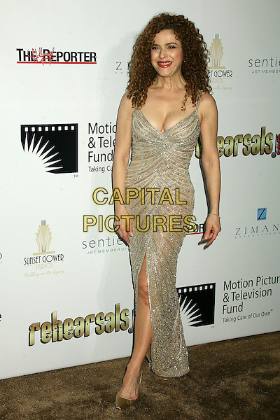 "BERNADETTE PETERS.2nd Annual ""A Fine Romance"" Benfit for the Motion Picture & Television Fund at Sunset Gower Studios, Hollywood, California, USA,.18 November 2006..full length silver gold glittery beaded dress.CAP/ADM/BP.©Byron Purvis/AdMedia/Capital Pictures."
