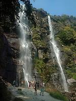 Chiavenna, Piuro, cascate dell'Acquafraggia.<br /> Chiavenna, Piuro, Acquafraggia falls.