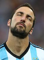 Gonzalo Higuain of Argentina rolls his eyes back