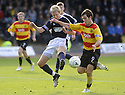 10/10/2009  Copyright  Pic : James Stewart.sct_jspa06_dundee_v_partick  . :: DAVID COWAN CLEARS FROM LIAM BUCHANAN  :: .James Stewart Photography 19 Carronlea Drive, Falkirk. FK2 8DN      Vat Reg No. 607 6932 25.Telephone      : +44 (0)1324 570291 .Mobile              : +44 (0)7721 416997.E-mail  :  jim@jspa.co.uk.If you require further information then contact Jim Stewart on any of the numbers above.........
