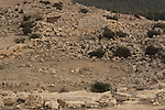 Israel, Southern Hebron Mountain, archaeological remains at Tel Yatir, the pool