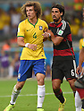 David Luiz (BRA), Sami Khedira (GER),<br /> JULY 8, 2014 - Football / Soccer : FIFA World Cup 2014 semi-finals match between Brazil 1-7 Germany at Mineirao stadium in Belo Horizonte, Brazil.<br /> (Photo by FAR EAST PRESS/AFLO)