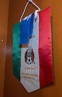Photo before the match Mexico vs Jamaica Corresponding to  Group -C- of the America Cup Centenary 2016 at Rose Bowl Stadium.<br /> <br /> Foto previo al partido Mexico vs Jamaica, Correspondiente al Grupo -C- de la Copa America Centenario 2016 en el Estadio Rose Bowl, en la foto: Vestidor de Mexico  con Banderin<br /> <br /> <br /> 09/06/2016/MEXSPORT/David Leah