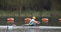 Caversham. Berkshire. UK<br /> Gavin HORSBOROUGH, enjoying at good time timw trial at the 2016 GBRowing U23 Trials at the GBRowing Training base near Reading, Berkshire.<br /> <br /> Monday  11/04/2016 <br /> <br /> [Mandatory Credit; Peter SPURRIER/Intersport-images]