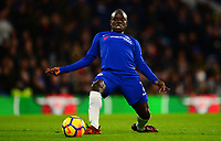N'Golo Kante of Chelsea stretches for the ball during the EPL - Premier League match between Chelsea and Brighton and Hove Albion at Stamford Bridge, London, England on 26 December 2017. Photo by PRiME Media Images.