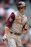 Caleb Shofner #1 of the Texas A&M Aggies hustles down the first base line versus the UC-Irvine Anteaters in the 2009 Houston College Classic at Minute Maid Park February 27, 2009 in Houston, TX.  The Aggies defeated the Anteaters 9-2. (Photo by Brian Westerholt / Four Seam Images)
