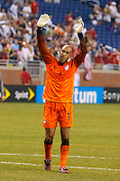 7 June 2011: USA Men's National Team goalkeeper Tim Howard (1) waves to the fans after the CONCACAF soccer match between USA and Canada at Ford Field Detroit, Michigan. USA won 2-0.