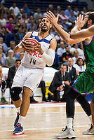 Real Madrid's player Gustavo Ayon during match of Liga Endesa at Barclaycard Center in Madrid. September 30, Spain. 2016. (ALTERPHOTOS/BorjaB.Hojas) /NORTEPHOTO.COM