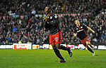 New signing Yakubu of Reading celebrates scoring his side's second goal of the game   - Football - FA Cup 5th round - Derby County vs Reading - IPro Stadium Derby - Season 2014/15 - 14th February 2015 - Photo Malcolm Couzens/Sportimage