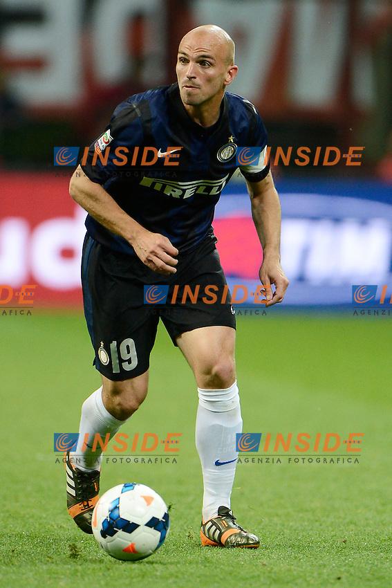 Esteban Cambiasso Inter<br /> Milano 04-05-2014 Stadio Giuseppe Meazza - Football 2013/2014 Serie A. Milan - Inter Foto Giuseppe Celeste / Insidefoto