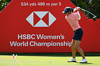 SINGAPORE - MARCH 03: Azahara Munoz of Spain on the 5th tee during the final round of the HSBC Women's World Championship 2019 at Sentosa Golf Club - Tanjong Course, Singapore on March 03, 2019.<br /> .<br /> .<br /> .<br /> (Photo by: Naratip Golf Srisupab/SEALs Sports Images)<br /> .<br /> Any image use must include a mandatory credit line adjacent to the content which should read: Naratip Golf Srisupab/SEALs Sports Images