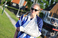FIERLJEPPEN: IJLST: Watte Abma Skânsen, 05-06-2013, Fierljepferiening Drylts e.o., 1e Klas wedstrijd, Senioren Topklasse, Bart Helmholt (#97), ©foto Martin de Jong