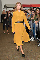 Arizona Muse<br /> arrives for the TopShop UNIQUE catwalk show as part of London Fashion Week SS17, Old Spitalfields Market, London<br /> <br /> <br /> &copy;Ash Knotek  D3155  17/09/2016
