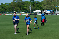 Kansas City, MO - Saturday May 13, 2017:  Walk of Champions kids prior to a regular season National Women's Soccer League (NWSL) match between FC Kansas City and the Portland Thorns FC at Children's Mercy Victory Field.