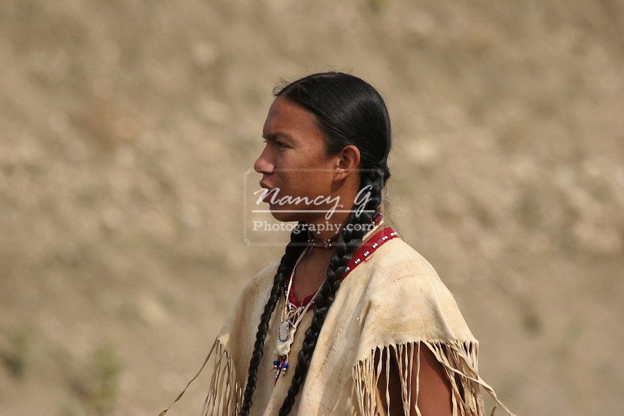 A Native American Indian teenager
