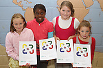 Chloe Coyle, Alahwoni Kadidja Traore, Kelsi Somerville and Keeva O'Dowd at the presentation of certificates to students who completed the Literacy Through the Arts Camp at St. Pauls NS...Photo NEWSFILE/Jenny Matthews.(Photo credit should read Jenny Matthews/NEWSFILE)....This Picture has been sent you under the condtions enclosed by:.Newsfile Ltd..The Studio,.Millmount Abbey,.Drogheda,.Co Meath..Ireland..Tel: +353(0)41-9871240.Fax: +353(0)41-9871260.GSM: +353(0)86-2500958.email: pictures@newsfile.ie.www.newsfile.ie.FTP: 193.120.102.198.