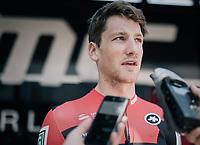 Stefan Küng (SUI/BMC) interviewed pre-race<br /> <br /> 104th Tour de France 2017<br /> Stage 6 - Vesoul › Troyes (216km)
