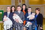 Cousins Lauren Moriarty and Ryan Moriarty celebrated their christening with their big cousin Lucy Moriarty and their parents Tim and Deirdre, Donie and Norma and Eamonn and Joanne Moriarty in the church of the Immaculate Conception Currow on Saturday