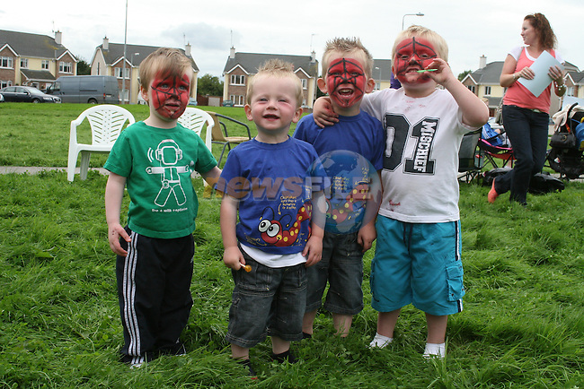 Best Friends Ryan Griffin, Taylor Kinsella, Alex Kinsella and Eamonn Canning at the Annual Sports Day at the Commons, Duleek....Photo NEWSFILE/Jenny Matthews.(Photo credit should read Jenny Matthews/NEWSFILE)....This Picture has been sent you under the condtions enclosed by:.Newsfile Ltd..The Studio,.Millmount Abbey,.Drogheda,.Co Meath..Ireland..Tel: +353(0)41-9871240.Fax: +353(0)41-9871260.GSM: +353(0)86-2500958.email: pictures@newsfile.ie.www.newsfile.ie.FTP: 193.120.102.198.