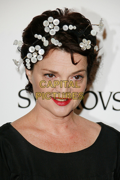 LULU GUINNESS .Attending the British Fashion Awards 2008 held at The Lawrence Hall in London, England, UK, .November 25th 2008..Arrivals portrait headshot buttons hat red lipstick .CAP/DAR.©Darwin/Capital Pictures