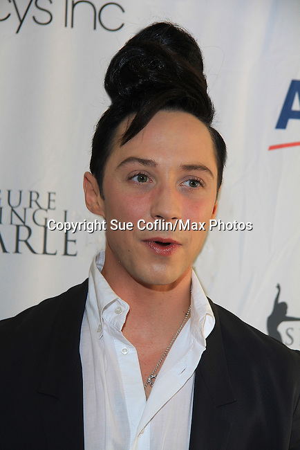American Figure Skater Johnny Weir poses at The 2013 Skating with the Stars- a benefit gala for Figure Skating in Harlem on April 8, 2013 at Trump Wollman Rink, New York City, New York. (Photo by Sue Coflin/Max Photos)