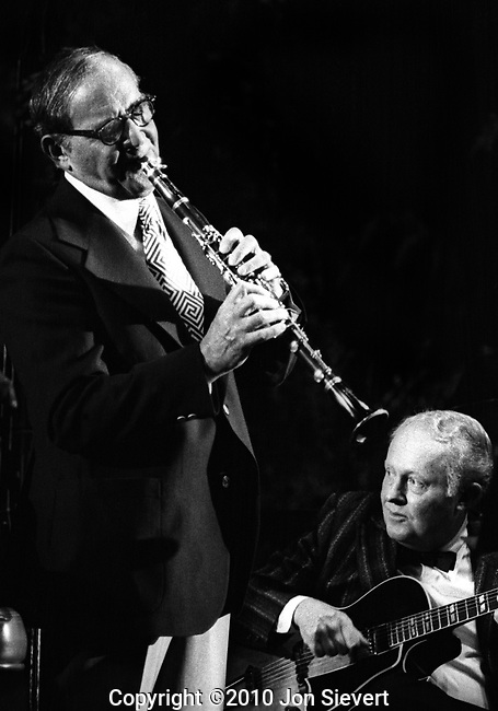 Benny Goodman, Herb Ellis, July 1975