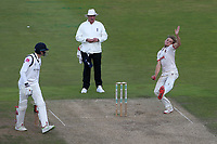 Aaron Beard in bowling action for Essex during Warwickshire CCC vs Essex CCC, Specsavers County Championship Division 1 Cricket at Edgbaston Stadium on 11th September 2019