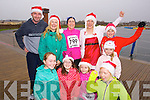 Taking part in the Santa 5k fun run at Tralee Bay Wetlands on Sunday, were front l-r: Ailbhe Ryle, Jessica O'Connor, Katie Ross and Muireann White. Back l-r: Michael Ross, Carmel Ross, Deirdre Ryle, Ursula Barrett, Keith O'Mahony and Aoife Ross.