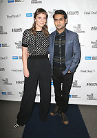 BEVERLY HILLS, CA - FEBRUARY 1: Emily V. Gordon and Kumail Nanjiani at the 2018 Writers Guild Awards Beyond Words spotlighting outstanding screenwriting at the Writers Guild Theater in Beverly Hills, California on February 1, 2018.   <br /> CAP/MPI/FS<br /> &copy;FS/MPI/Capital Pictures