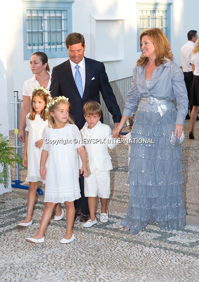 """Princess Alexia and Carlos Morales.The Wedding of Prince Nikolaos and Tatiana Blatnik attended by many members of European Royalty at St Nikolaos Church on the Island of Spetses_Grecce_24/08/2010.Mandatory Credit Photo: ©DIAS-NEWSPIX INTERNATIONAL..**ALL FEES PAYABLE TO: """"NEWSPIX INTERNATIONAL""""**..IMMEDIATE CONFIRMATION OF USAGE REQUIRED:.Newspix International, 31 Chinnery Hill, Bishop's Stortford, ENGLAND CM23 3PS.Tel:+441279 324672  ; Fax: +441279656877.Mobile:  07775681153.e-mail: info@newspixinternational.co.uk"""