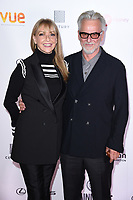 "Trevor Eve and wife Sharon Maughan<br /> arriving for the World premiere of ""Bees Make Honey"" at the Vue West End, Leicester Square, London<br /> <br /> <br /> ©Ash Knotek  D3314  23/09/2017"